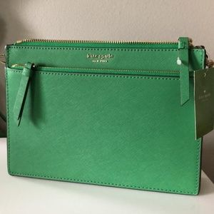 Kate Spade Cameron Green Leather Cross Body Bag